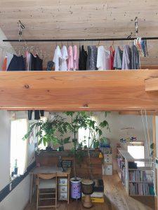 近江八幡のモデルハウス件自宅洗濯もの